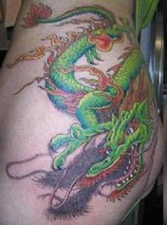 Asian Style Dragon tattoo Design on Butt