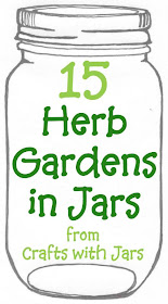 The best collection of great herb gardens in jars.  Come see how to plant and grow herbs in mason jars or any jar with these 15 great links.