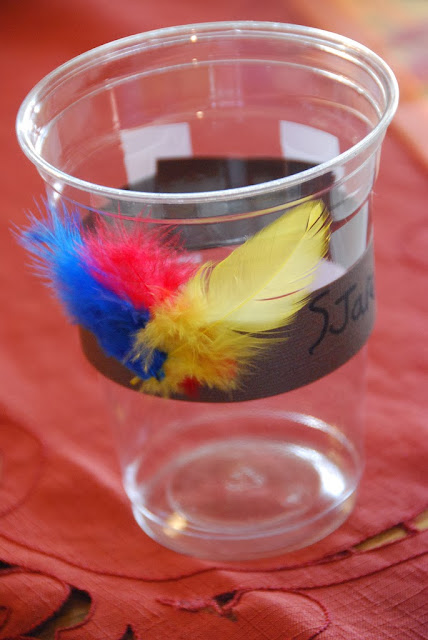 Kids Thanksgiving Feather & Corn Setting