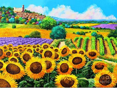 Pinturas de Campo de Girasoles