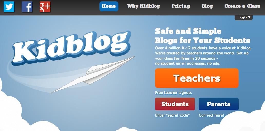http://kidblog.org/home/