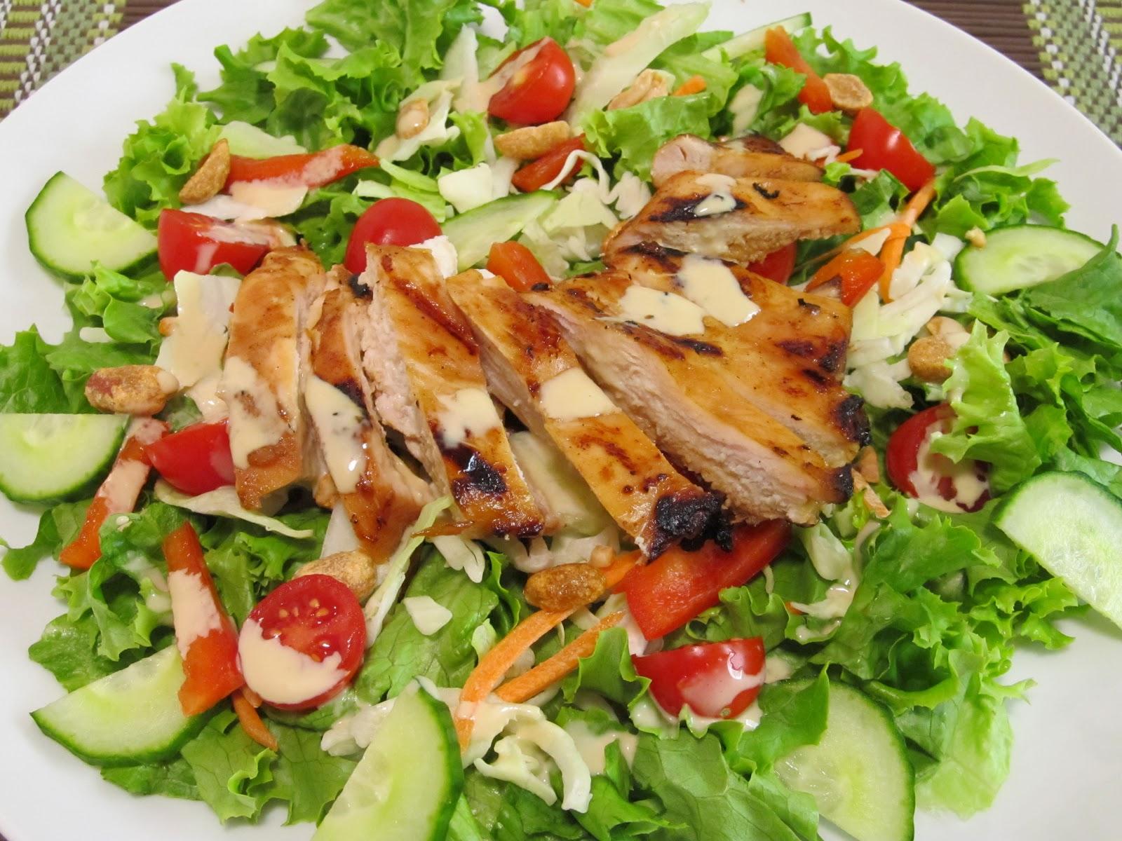 Jenn's Food Journey: Grilled Teriyaki Chicken Salad with Wasabi ...