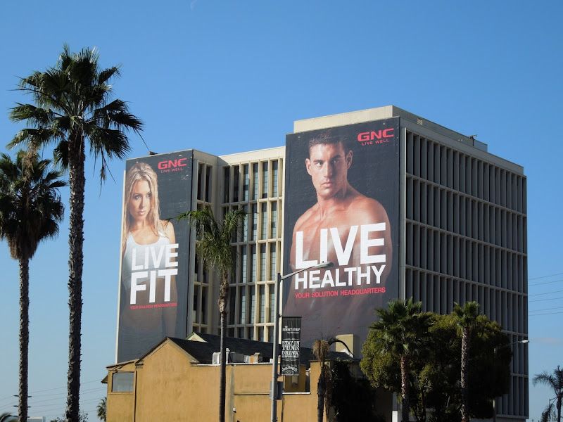 GNC Live Fit Live Healthy billboards