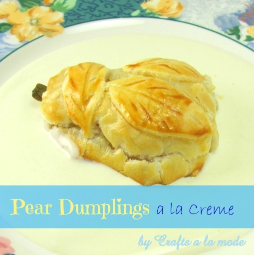 How to make pear dumplings in a cream sauce