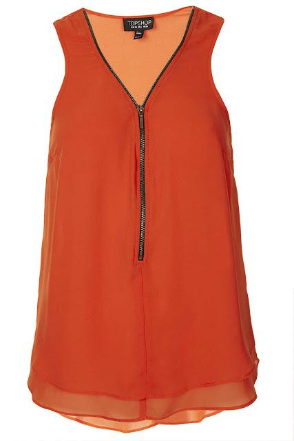 orange zip top