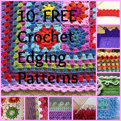 BORDER PATTERNS FOR CROCHETED AFGHANS Crochet Patterns Only