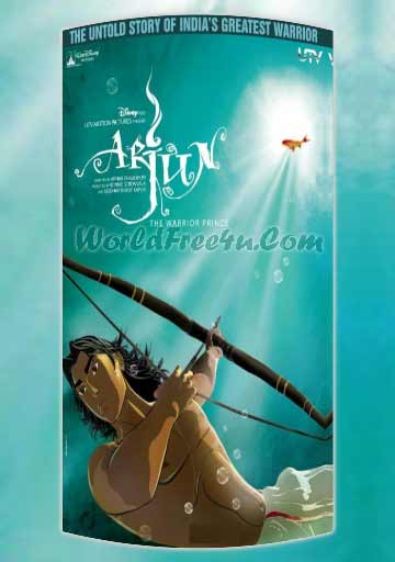 Poster Of Bollywood Movie Arjun The Warrior Prince (2012) 300MB Compressed Small Size Pc Movie Free Download worldfree4u.com