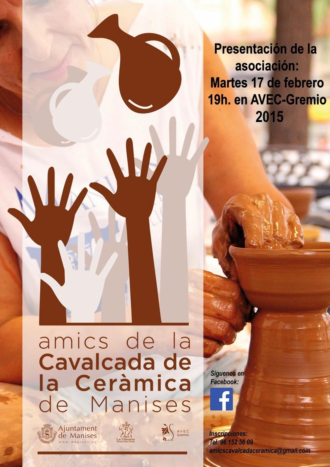 PRESENTACIÓN DE LA ASOC. AMICS DE LA CAVALCADA DE LA CERÀMICA DE MANISES