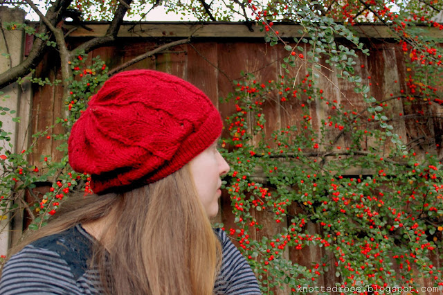 Grace Lace Beret and Lattice Hat Red