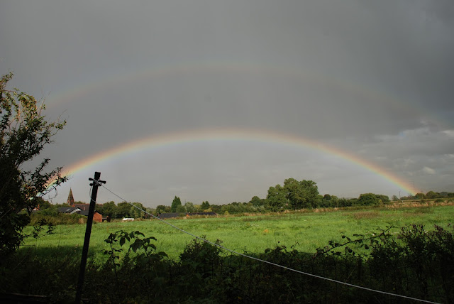 image of two rainbows