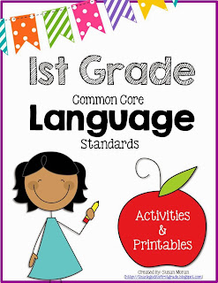 http://www.teacherspayteachers.com/Product/First-Grade-Common-Core-Language-Activities-Printables-Part-One-810093