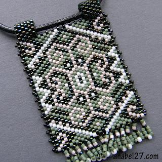 купить кулон украшение из бисера в этническом стиле