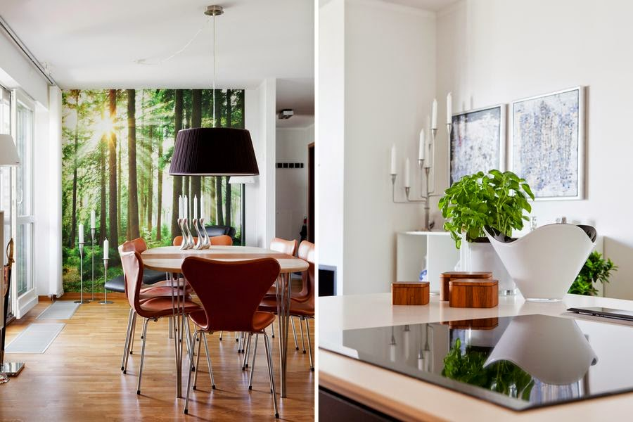 Un bonito diseño de interiores danés.