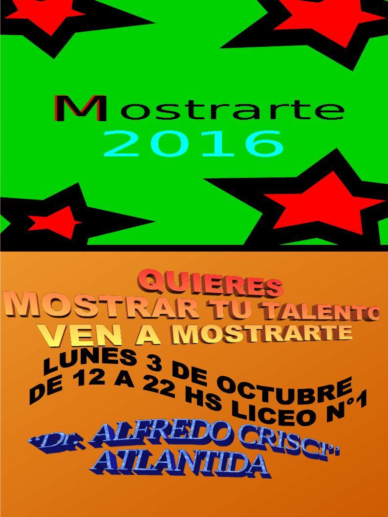 INVITACIÓN MOSTRARTE 2016