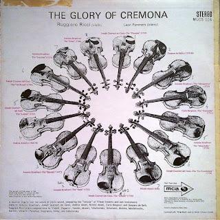 Ruggiero Ricci The Glory Of Cremora Ruggerio Ricci Plays 15 Famous Violins