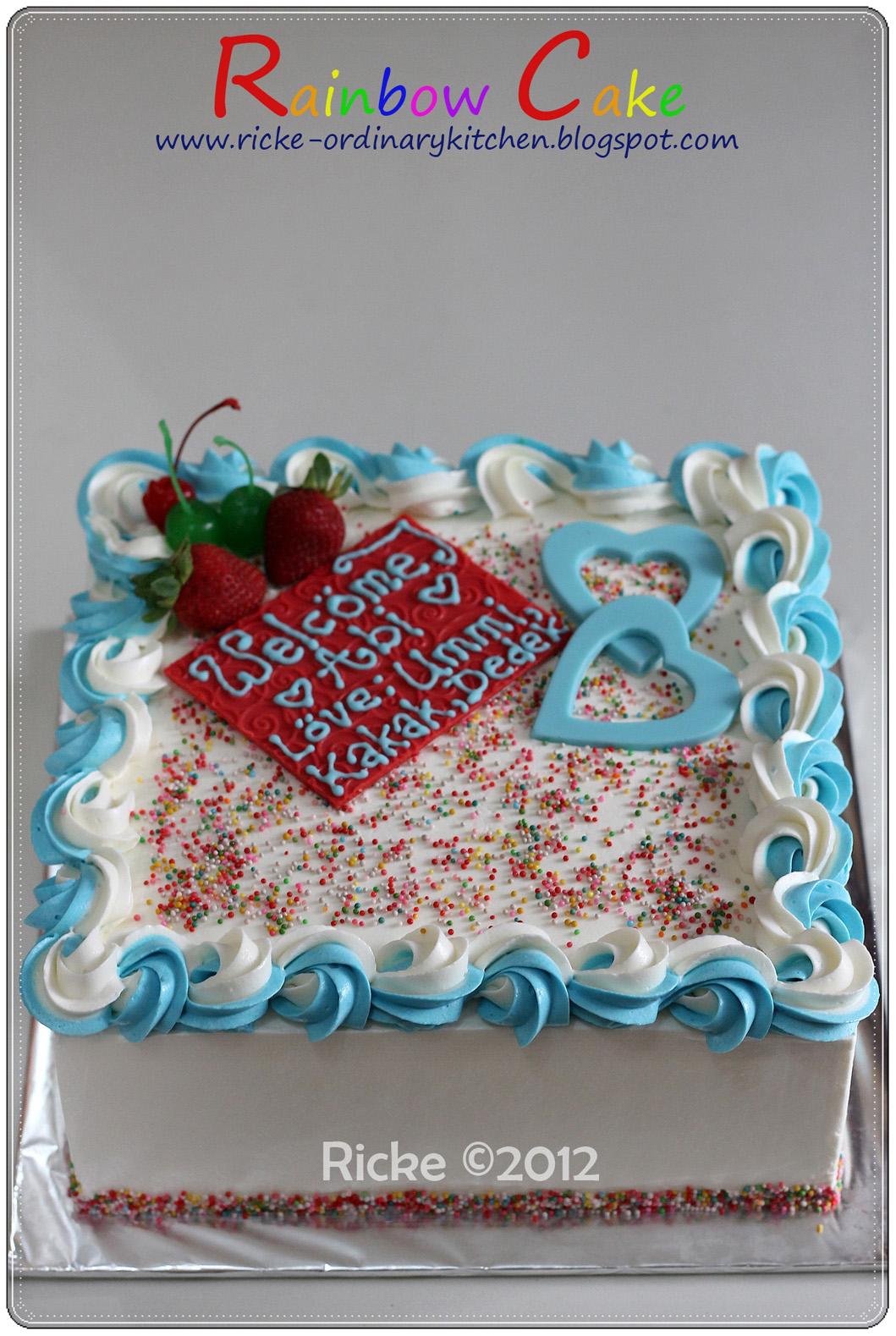 Rainbow Roll Cake Ricke