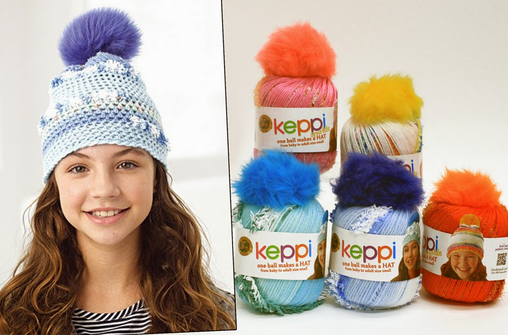 Keppi Yarn with Pompom by Lion Brand Yarns
