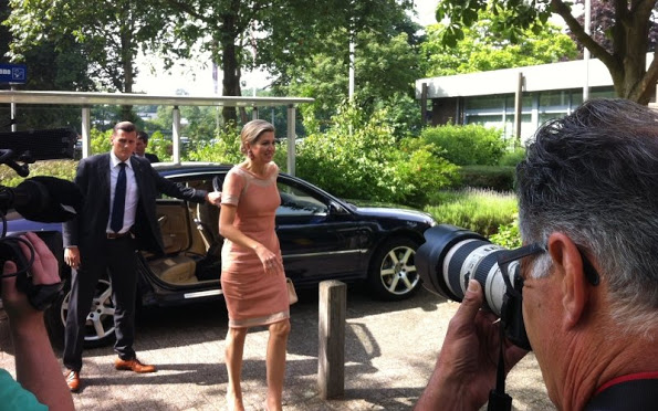 Queen Maxima Visits The Fontys School In Den Bosch