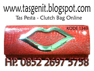 tas pesta sintetis, clutch bag online shop, dompet pesta unik