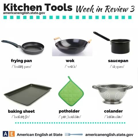 Seyon hundeyin 39 s blog words relating to kitchen tools for Cocinar in english