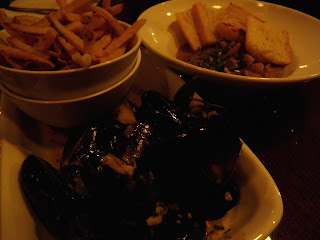 Mussels Frites and Escargot