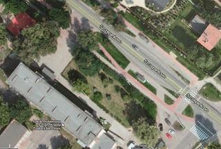 zdjęcie satelitarne budynku ZS nr 6 w Poznaniu