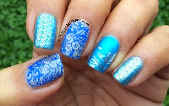 Ocean and Mermaid Nails
