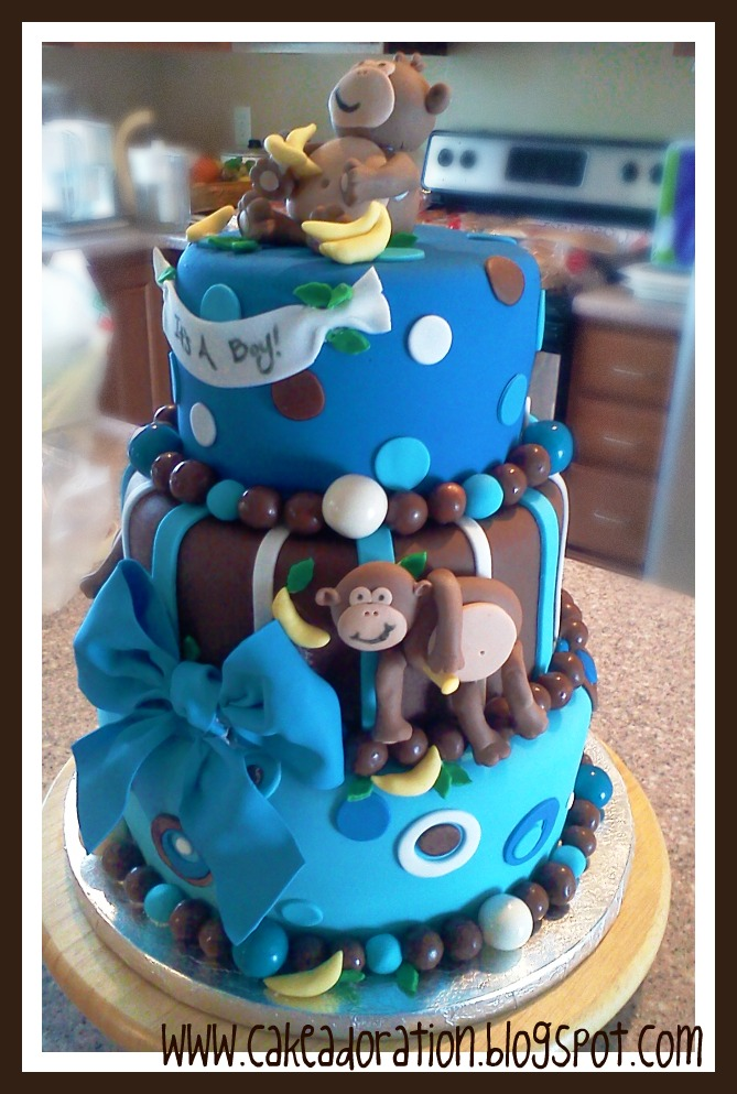 Cake adoration special occasion cakes - Baby shower cakes monkey theme ...