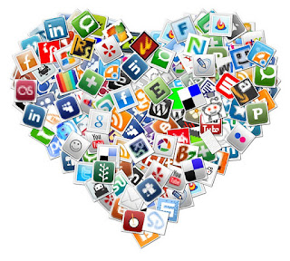 heart with different websites to creat Personal learning network