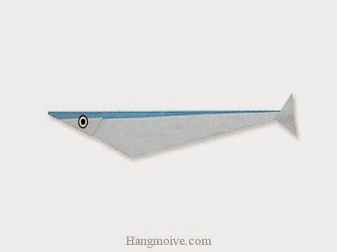Cách gấp, xếp con cá thu bằng giấy origami - Video hướng dẫn xếp hình sinh vật dưới nước - How to fold a Mackerel