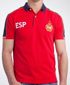 polo hombre Pedro del Hierro España Eurocopa 2012