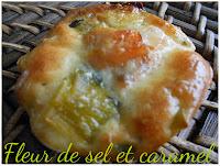 Bouchées apéritives Saumon fumé - poireaux
