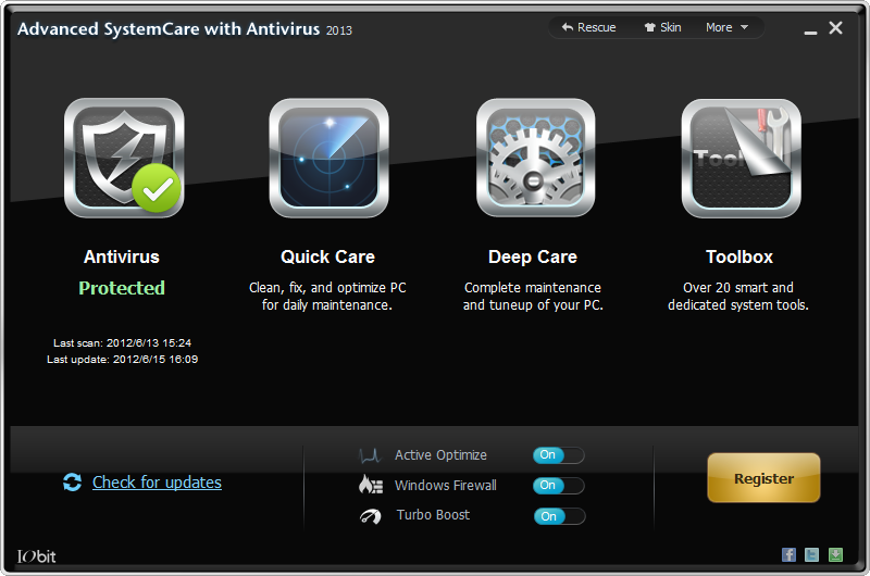 ���� ��� advanced systemcare with antivirus 2013