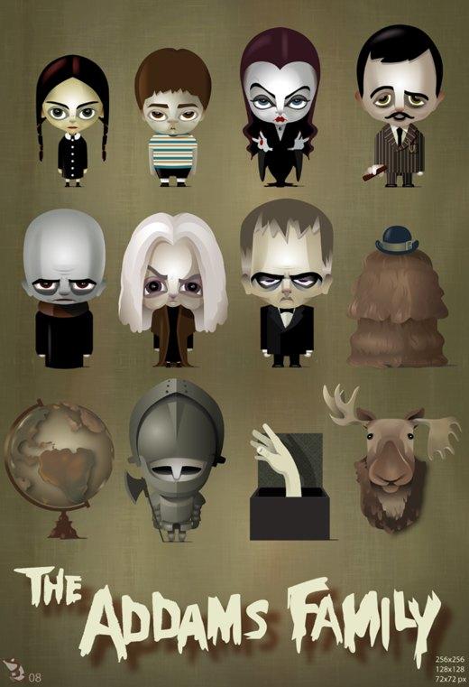 The Addams Family por wizzyloveszebras