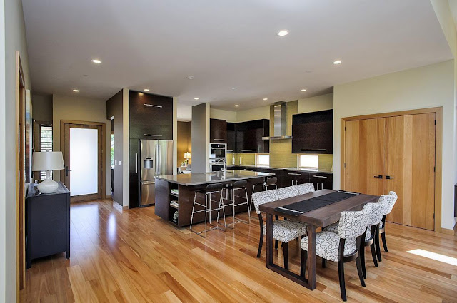 Dining room by the kitchen in Contemporary Style Home in Burlingame