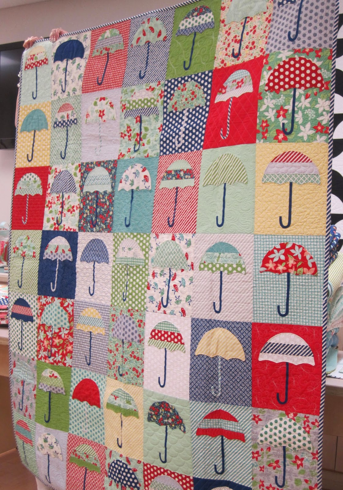 camille roskelley's raincheck quilt, april showers