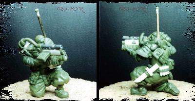 Miniaturas de clones cibernéticos para juego de Sci-Fi de Gamezone, realizadas por RU-MOR