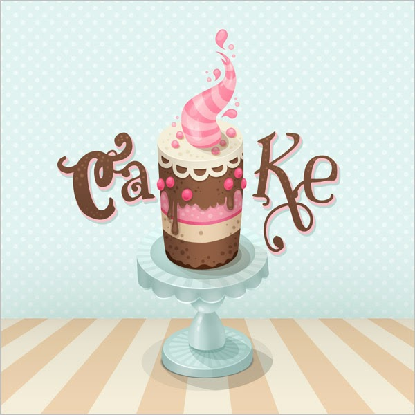 A Colorful Cake Illustration in Photoshop