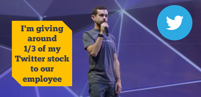 twitter ceo gives stock employees jack dorsey