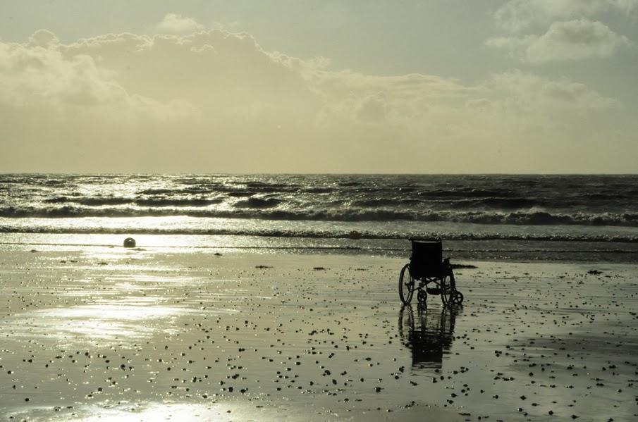 océan, plage, atlantique, fauteuil, tharon-plage, paysage