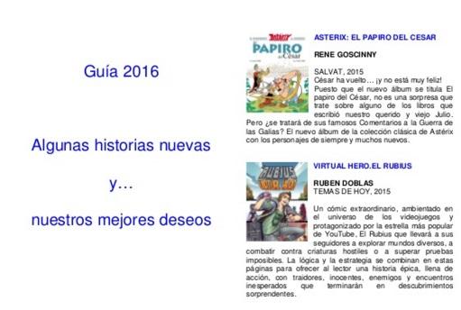 GUÍA DE NOVEDADES 2016