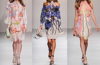 vestidos floreados de adolfo dominguez 2012