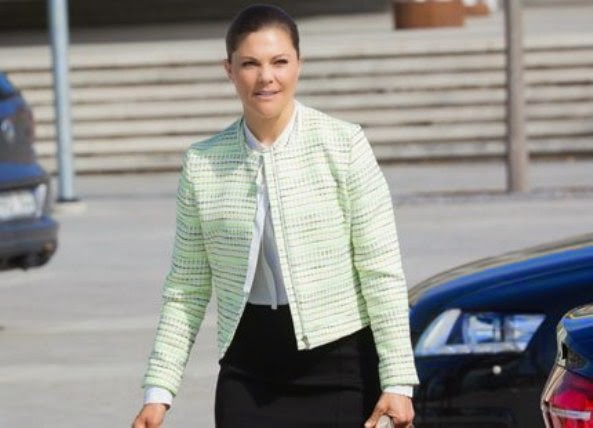 Princess Victoria Attends A Seminar At The Swedish University In Uppsala