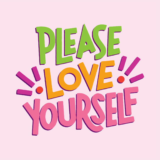 please love yourself illustrated quote by josh lafayette