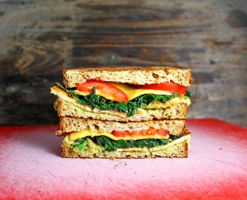 Oppskrift Vegan Sandwich Brødskivekalas Tofu Tofubacon Grønnkål