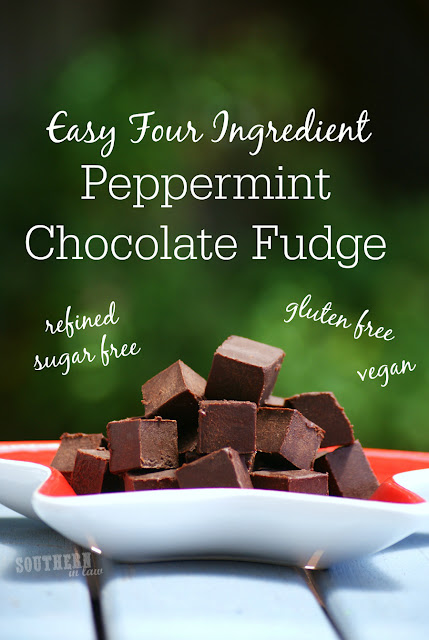 Healthy Peppermint Chocolate Fudge Recipe - christmas candy, healthy homemade christmas gifts, gluten free, refined sugar free, healthy, vegan, clean eating friendly