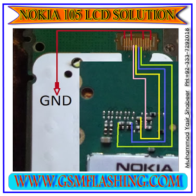 jumper solution and nokia 105 lcd display pin ways nokia 105 and same