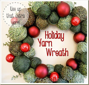 Holiday Yarn Wreath