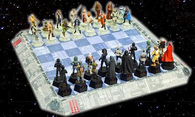 Xadrez do Star Wars - Peças de chumbo colecionáveis, pintadas a mão