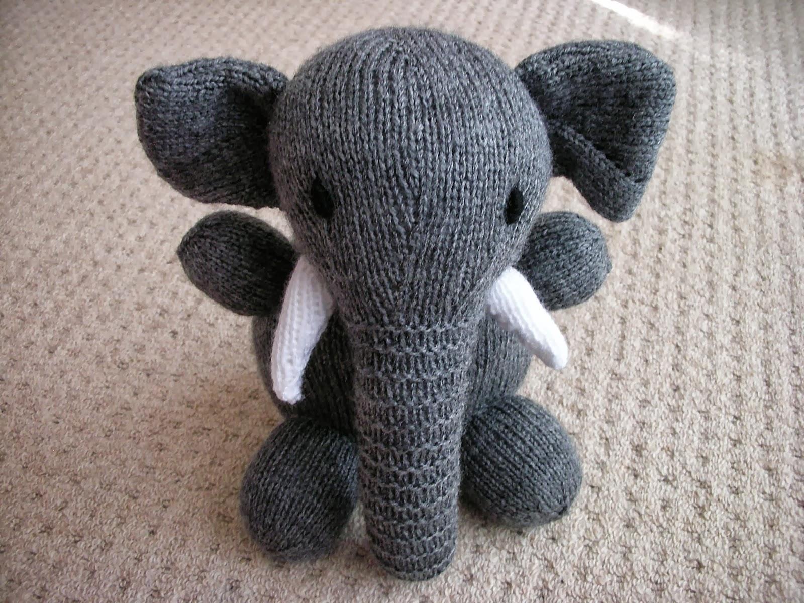 Free Elephant Knitting Pattern : Damselfly Gemma: September Crafting